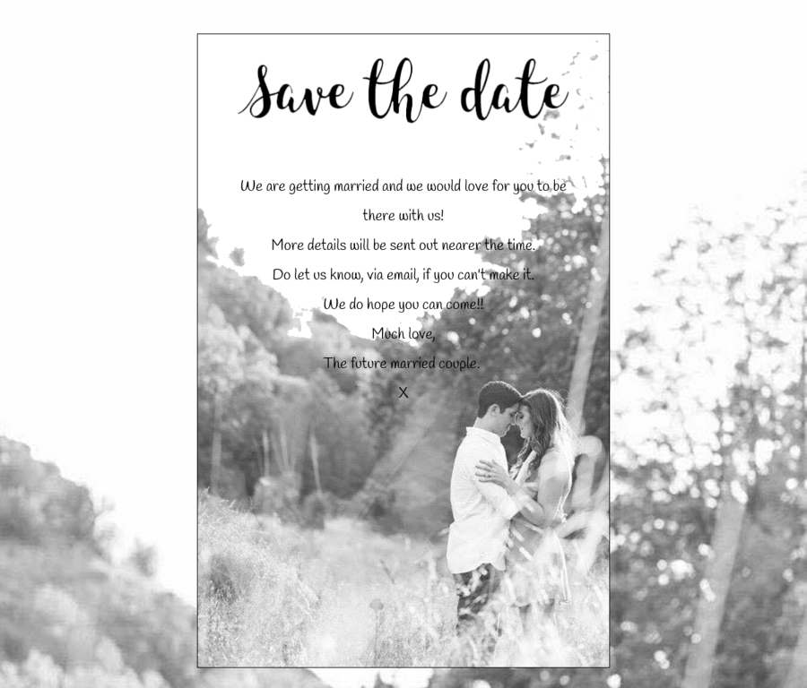 Bespoke Save the Date design